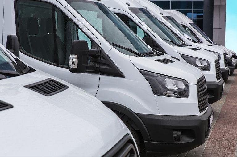 Flota białych busów